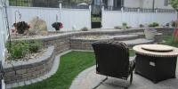 Borders - rustic and charcoal roman stackstone roman revers a cap, roman cobble pavers