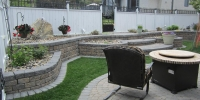 Borders - rustic and charcoal roman stackstone roman revers a cap, roman cobble pavers