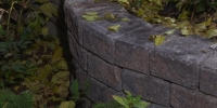 Borders - rustic roman stackstone curved decorative wall 2