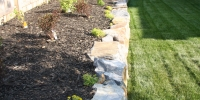 borders - iron stone slab raised bed