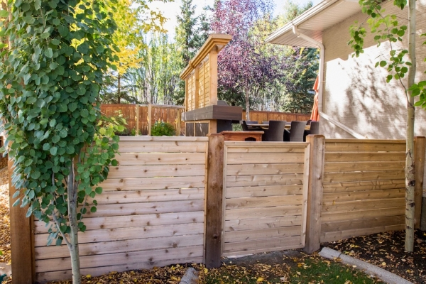 Cedar Fence Gate Horizontal Boarding