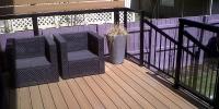 decks - Composite deck with black aluminum rails