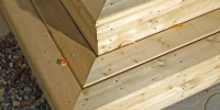 decks - custom pressure treated stairs