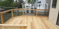 decks - cedar deck with Cedar Framed with Aluminum Spindles