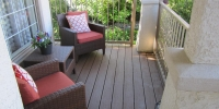 decks - composite front porch