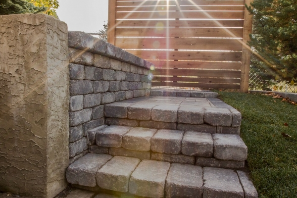 Barkman Quarry Stone steps and retaining wall