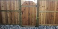 Gates - cedar fence and gates with pressure treated posts