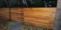 fences - cedar horizontal slat decorative fence