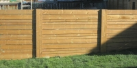 Fences - Horizontal slat cedar fence