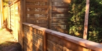 Fences - horizontal cedar slat fence with lower front yard fence