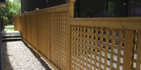 Fences - tiered cedar lattice fence