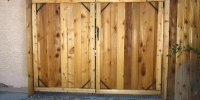 Gates - double wide cedar gate