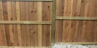fences - cedar fortress style fence