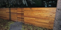 fences - cedar horizontal slat decorative fence
