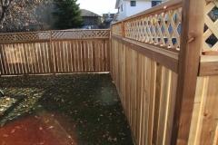 Fences - Cedar estate style fence with lattice top
