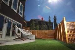 Fences - stained cedar lattice fence