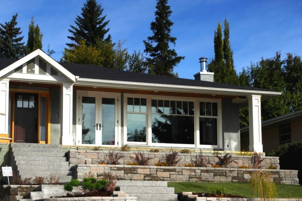 Calgary Terraced Retaining Wall