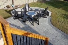 fire bowl on a saving stone patio
