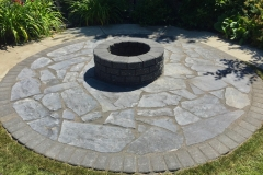 paving stone patio with fire pit copy