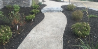 Pathway - Exposed aggregate path with rundle stone slab steps
