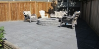 Rocky Mountain Slate Paving Stone Patio with Stackstone Firepit