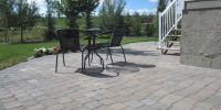 Huge Roman Euro Paving Stone Patio with ample room for a variety of different uses...