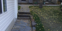 Pathway - Kendal flagstone with slab stone steps