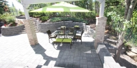 Patio - Rocky mountain pattern in charcoal