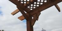 curved cedar pergola details