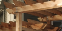 tiered cedar pergola details
