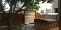 Horizontal cedar privacy screen