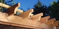 cedar pergola beam details