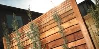 custom redwood privacy lattice