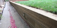 retaining wall - pressure treated