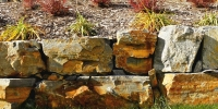 retaining wall - ironstone
