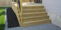 steps - pressure treated steps and deck