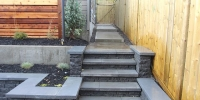 steps - Black onyx steps with shale grey piedemonte coping