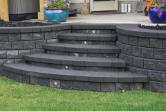 steps - Charcoal pisa II with revers a cap steps and instep led lighting