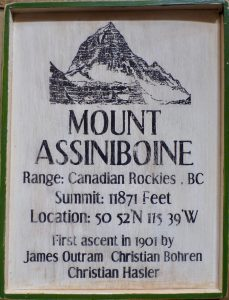 Mount Assiniboine Plaque